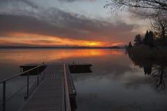 Pusiano jezioro Zdjęcia Royalty Free