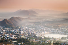 Puskhar City during Sunrise Stock Photos