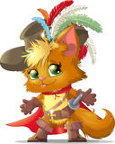 Puss in Boots. Beautiful cat in the boots of the fairy tale vector illustration