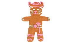 Puss in Boots gingerbread cookie Stock Photography