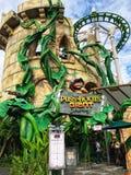 Puss DreamWorks в студиях Universal Сингапуре путешествием ботинок гигантских Стоковые Фотографии RF