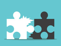 Pussel dåligt teamworkbegrepp stock illustrationer