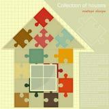 pussel för begreppskonstruktionshus royaltyfri illustrationer