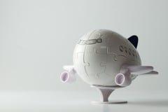 pussel för flygplan 3D Arkivfoton