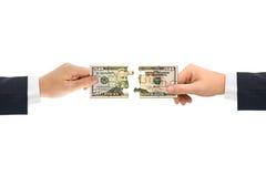 pussel för handpengar Royaltyfria Bilder