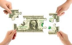 pussel för handpengar Arkivbild