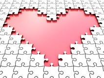 pussel för hjärta 3d stock illustrationer