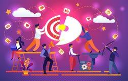Pussel för kontorsTeam Working Together Set Up mål vektor illustrationer