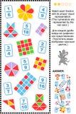 Pussel för math för Visualbråkdelar bilda royaltyfri illustrationer