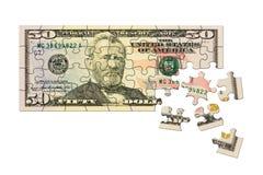 pussel för pengar för hand för begreppseuro finansiellt Fotografering för Bildbyråer