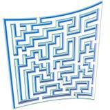 pussel för plan för sida för bakgrundsritningmaze vektor illustrationer