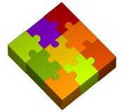 pussel för stycken för färgillustration Royaltyfri Foto