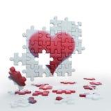 pussel heart2 Arkivbild