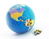Pusseldelar som bildar jord Arkivbild