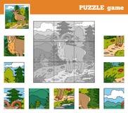 Pussellek för barn med (urial) djur, vektor illustrationer