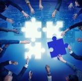 Pusselservice Team Coopeartion Togetherness Unity Concep Royaltyfria Bilder