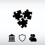 Pusselstycksymbol, vektorillustration Sänka designstil Royaltyfria Foton