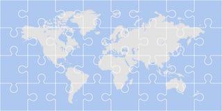 Pusselvärldskarta stock illustrationer