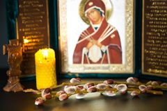 Pussy willow Sunday symbols. Of Orthodoxy, Christianity Stock Image