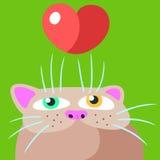 Pussycat emoticons set. Vector illustration Stock Images