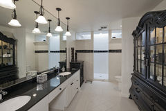 Pusta łazienka luksusu dom zdjęcia royalty free