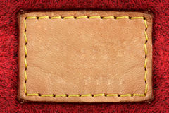 Pusta żółta rzemienna etykietka Obraz Stock