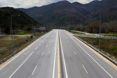 Pusta autostrada Zdjęcia Royalty Free