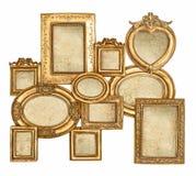 Pusta barok rama z kanwą dla fotografii i obrazka Obraz Stock