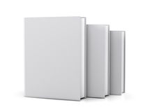 Pusta biała książkowa pokrywa Zdjęcie Stock
