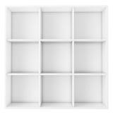 Pusta biała półka na białym tle Obraz Stock