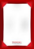 Pusta biała strona na czerwonym tle Zdjęcia Stock