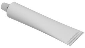 Pusta biały tubka Zdjęcie Stock