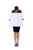 pusta biznesowa mienia znaka kobieta Obrazy Stock