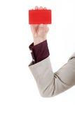 Pusta biznesowa odznaka odizolowywająca na bielu Obraz Stock