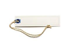 pusta brąz sznurka etykietka wiążąca Obrazy Royalty Free