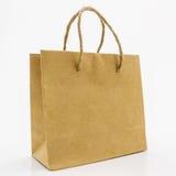 Pusta brown papierowa torba Zdjęcia Stock
