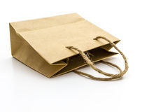 Pusta brown papierowa torba Obrazy Stock