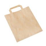 Pusta brown papierowa torba odizolowywająca na bielu Obrazy Royalty Free