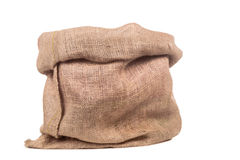Pusta burlap torba, worek lub Fotografia Stock