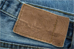 pusta cajgów etykietki skóra Fotografia Stock