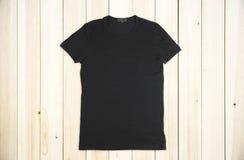 Pusta czarna koszula obraz stock
