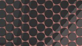 Pusta czarna odznaka na czerwonym tle Obraz Stock