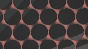 Pusta czarna odznaka na czerwonym tle Fotografia Stock