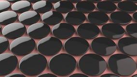 Pusta czarna odznaka na czerwonym tle Zdjęcia Stock