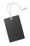 Pusta czerń papieru prezenta lub ceny etykietka odizolowywająca obrazy royalty free