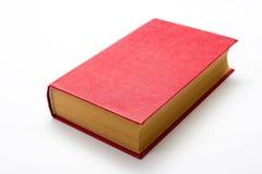 Pusta czerwona hardcover książka na białym tle z kopii przestrzenią obrazy royalty free