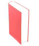 Pusta czerwona hardcover książka odizolowywająca na białym tle Zdjęcia Royalty Free