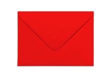 Pusta czerwona koperta odizolowywająca na białym tle z cieniami Fotografia Royalty Free