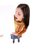 pusta deskowa kobieta Zdjęcie Stock