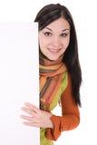 pusta deskowa kobieta Zdjęcie Royalty Free